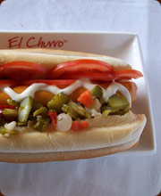 Latin-style Hot Dog